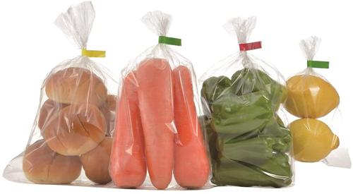 バッグシーラーで包装した野菜