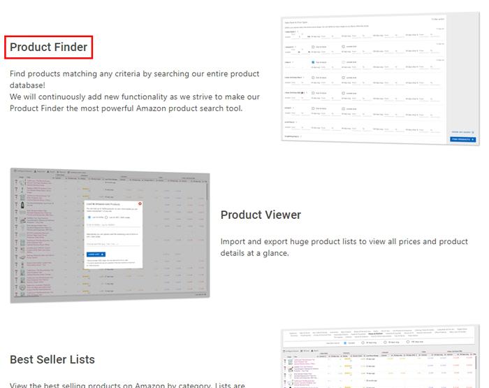 Product Finderにアクセス