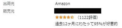 ちゃんやまのAmazonのストア評価数